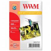 Фотопапір WWM глянцевий 200Г/м кв, 10х15см, 5 л (G200.F5/C)