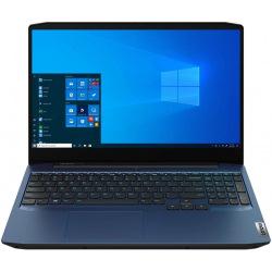 ноутбук 15.6FIM/i5-10300H/8/256/GTX 1650 4GB/DOS/B L/Chameleon Blue IdeaPad Gaming 3 15IMH05 (81Y400EERA)