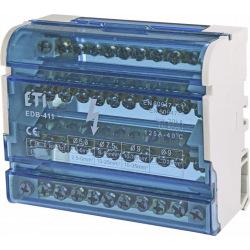 Блок разпределительный  ETI EDB-411  4p, 3L+PE/N, 125A (11 выходов) (1102304)