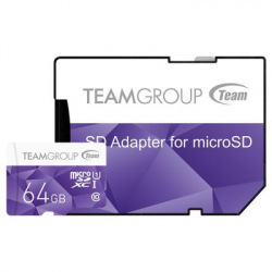 Карта памяти MicroSDXC  64GB UHS-I Team Color + SD-adapter Purple (TCUSDX64GUHS41) (TCUSDX64GUHS41)