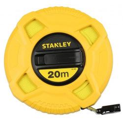 """Стрічка вимірювальна Stanley """" FIBERGLASS """" 20мх12мм, в пластмасовому корпусі (0-34-296)"""