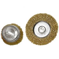 """Набір щіток для дрилі, 2 шт: 1 плоска 100 мм + 1 """"чашка"""" 75 мм, MTX (MIRI744809)"""