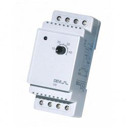 Терморегулятор Devireg 330 (+ 5 + 45С), датчик на проводе 3м, электронный, на DIN рейку, макс 16А (140F1072)