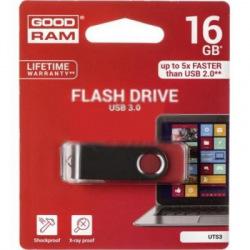 Флeш пам'ять USB 3.0 16GB UTS3 Twister Red (UTS3-0160R0R11)