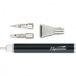 """Пальник газовий великий, тип """"Олівець"""" + 2 насадки для пайки, 200 мм,  SPARTA (MIRI914185)"""