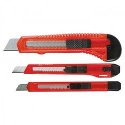 Набір ножів, висувні леза, 9-9-18 мм, 3 шт,  MTX (MIRI789859)