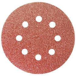 """Круг абразивний на ворсовій підкладці під """"липучку"""", перфорований, P 80, 125 мм, 5 шт,  MTX (MIRI738049)"""