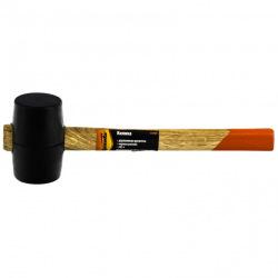 Киянка гумова 225 г, чорна гума, дерев'яна ручка,  SPARTA (MIRI111305)