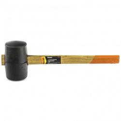 Киянка гумова 680 г, чорна гума, дерев'яна ручка,  SPARTA (MIRI111555)