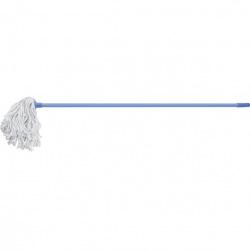 Швабра 120 см з держаком, мотузкова насадка з бавовни, 200 г, бузкова,  Elfe (MIRI93522)