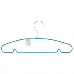 Вішалка для легкого одягу з прогумованим покриттям, 40 см, бірюзова  Elfe (MIRI92928)