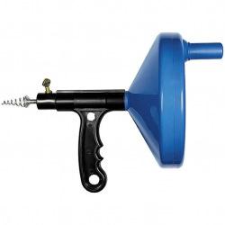 Трос для прочиcтки труб, L - 3.3 м, D - 6 мм, пластмасовый корпус,  СИБРТЕХ (MIRI92464)