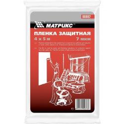 Плівка захисна 4 х 5 м, 7 мкм, поліетиленова,  MTX (MIRI888029)