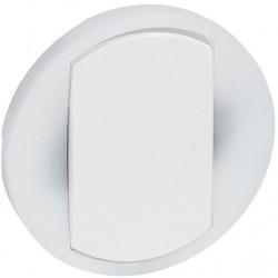 Лицевая панель выключателя с кольцевой подсветкой 1-клавишного белый Celiane Legrand (065004)