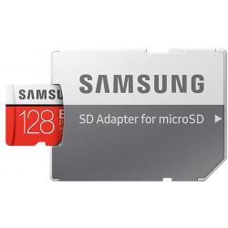 Карта пам'яті Samsung 128GB microSDXC C10 UHS-I U3 R100/W60MB/s Evo Plus V2 + SD адаптер (MB-MC128HA/RU)