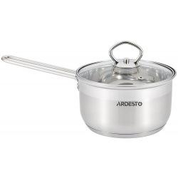 Ківш Ardesto Gemini, скляна кришка, 1,6 л, нержавіюча сталь (AR1916SS)