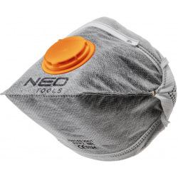 Пилозахисна напівмаска NEO складна, з активованим вугіллям FFP1, з клапаном, 3 шт (97-311)