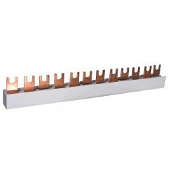 Шина питания ETI IZ 10/3F/12 3р  (63А, 3фаз, 12 мод, вилочный, 0,21m) (2921140)