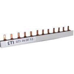 Шина питания ETI IZS 10/1F/54 (63А, 1фаз, 12 мод, штырьковая, 0.21м) (2921100)