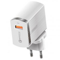 Мережевий зарядний пристрій Intaleo TCQ431 (1USBx3A) White (1283126481123) (1283126481123)