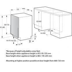 Встраиваемая посудом. машина Gorenje GV620E10/60 см./ 14 компл./5 прогр./ А++/полный AquaStop (GV620E10)