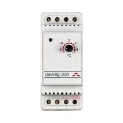 Терморегулятор Devireg 330 (-10+10С), датчик на проводе 3м, электронный, на DIN рейку, макс 16А (140F1070)