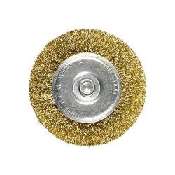Щітка плоска зі шпилькою для дрилі 60 мм, латунний кручений дріт,  MTX (MIRI744469)