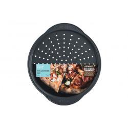 Форма для выпечки Ardesto Tasty baking пиццы 37*33*1,8 см, серый,голубой, углеродистая сталь (AR2307T)