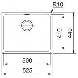 Кухонні мийки Franke SIRIUS SID 110-50/125.0395.602/ тектонайт/600х520х440/черная (125.0395.602)