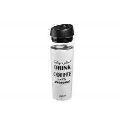 Термочашка Ardesto Coffee time Awesome 450 мл, беж, нерж.сталь (AR2645DMW)