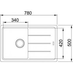 Кухонні мийки Franke BASIS BFG 611-78 / фраграніт/сифон у комплекті/780х500х200/сахара (114.0258.031)