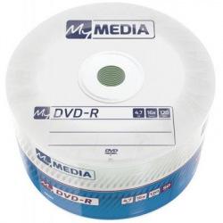 Диски DVD+R MyMedia (69200) 4.7GB, 16x, Matt Silver Wrap, 50шт (69200)