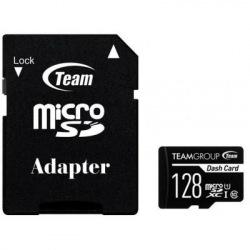 Карта пам`ятi MicroSDXC 128GB UHS-I Class 10 Team Dash Card + SD-adapter (TDUSDX128GUHS03) (TDUSDX128GUHS03)