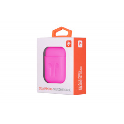 Чехол 2Е для Apple AirPods, Pure Color Silicone Imprint (1.5mm), Fuchsia (2E-AIR-PODS-IBSI-1.5-FK)