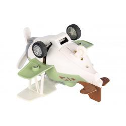 Самолет металлический инерционный Same Toy Aircraft зеленый со светом и музыкой  (SY8015Ut-2)