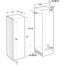 Холодильный шкаф встраиваемый Gorenje RI 2181A1/ 177 см.305 л./А+/LED диспл./AdaptTech (RI2181A1)