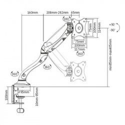 Крепление ITECH настольное для мониторов MBSG-02F MBSG-02F (MBSG-02F)