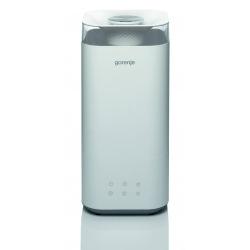Зволожувач повітря Gorenje H50W/ 5 л/ 20 м2/ультразвуковий/ LEDдисплей/автовідключення/холодна пара/білий (H50W)
