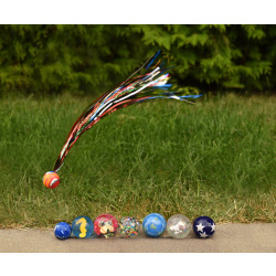 Мячик-попрыгун goki Бабочка белая  (16019G-2)