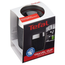 Термочашка Tefal TRAVEL CUP 0.2L silver/black (K3081314)