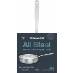 Сотейник с крышкой Fiskars All Steel 26 см/3,2 л (1023762)
