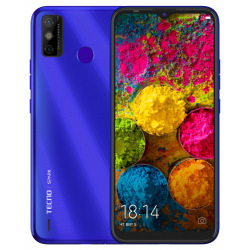 Смартфон Tecno Spark 6 Go (KE5) 3/64GB Dual Sim Aqua Blue (4895180762918) (4895180762918)