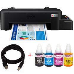 Комплект Принтер Epson L121 (без чернил) + USB кабель + Чернила WWM по 140г (KP.EL121)