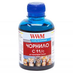 Чорнило WWM C11 Cyan для Canon 200г (C11/C) водорозчинне