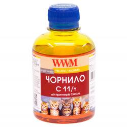 Чорнило WWM C11 Yellow для Canon 200г (C11/Y) водорозчинне