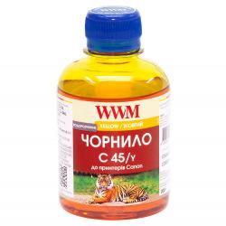 Чернила WWM C45 Yellow для Canon 200г (C45/Y) водорастворимые