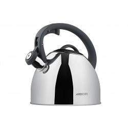 Чайник Ardesto Gemini, 2,5 л, сірий, нержавіюча сталь (AR1947KS)