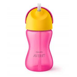 Чашка Avent с трубочкой 300 мл. 12+ розовый SCF798/02 (SCF798/02)