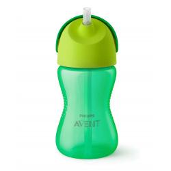 Чашка Avent с трубочкой 300 мл. 12+ зеленый SCF798/01 (SCF798/01)