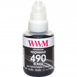 Чернила WWM GI-490 Black для Canon 140г (C490BP) пигментные